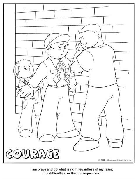 cub scout courage coloring page cub scout core value