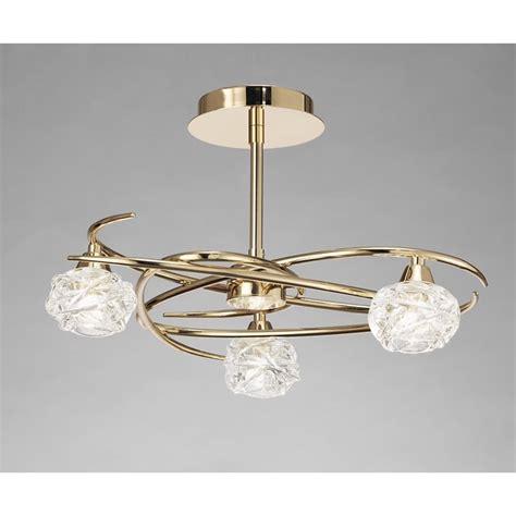 gold ceiling lights mantra m3944fg maremagnum ceiling 3 light gold