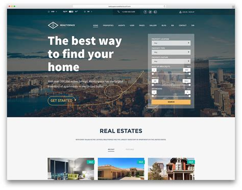 templates for real estate website 40 best real estate wordpress themes for agencies