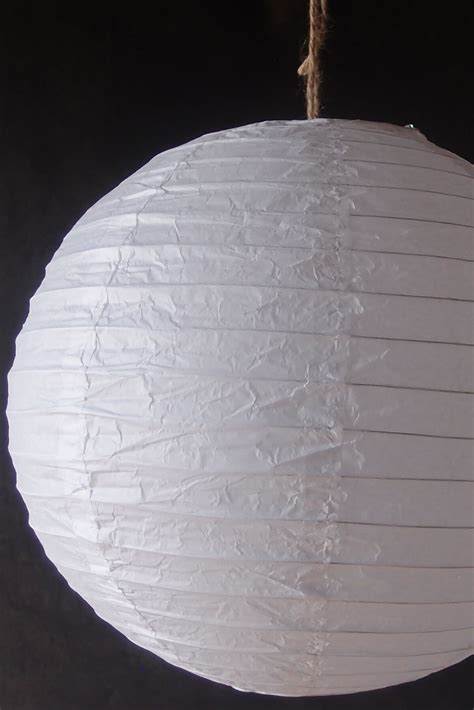 How To Make Circle Paper Lanterns - 24 quot white paper lanterns wedding lanterns
