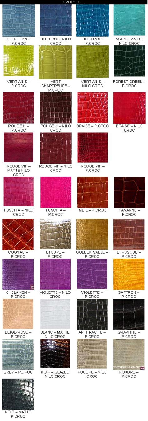 hermes color reference sle of colour chart purseforum