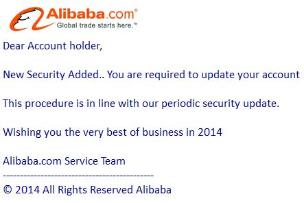alibaba mail phishing mail alerts new 2014 security alert update