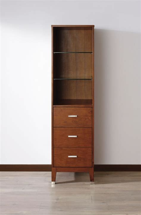 Cherry Linen Cabinet by Bathe Jackie Linen Cabinet Classic Cherry The Home