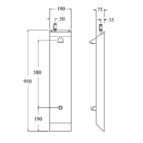 Shower Screen Dimensions by Stainless Steel Shower Panel Wall Mounted With Time Flow Valve