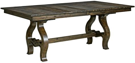Extendable Trestle Table by Wildfire Ember Extendable Trestle Dining Table From