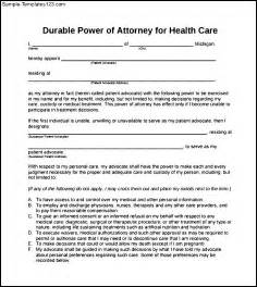 free printable durable power of attorney template printable durable power of attorney form pdf project