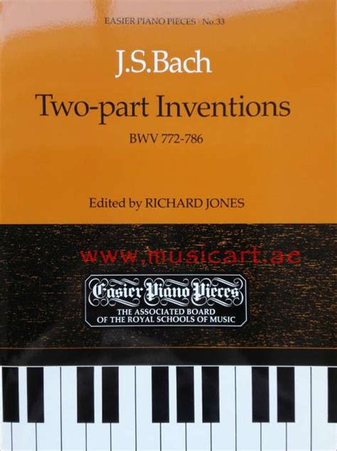 Buku Piano J S Bach Two Part Inventions Cd Included j s bach two part inventions isbn 9781854723154 shopping for books in uae