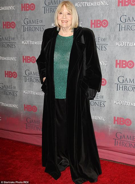 Gamis Diana Black diana rigg in velvet at of thrones premiere event