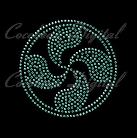 rhinestone template machine swirl svg dxf rhinestone template digital cutting file