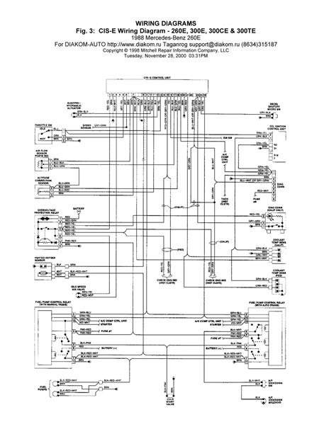 1988 mercedes 260e cis e wiring diagrams schematic