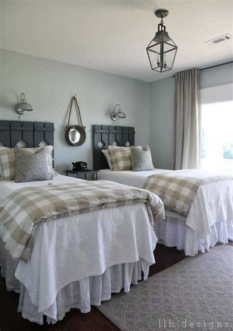 guest bedroom painted in sea salt by sherwin williams the cottage country style by