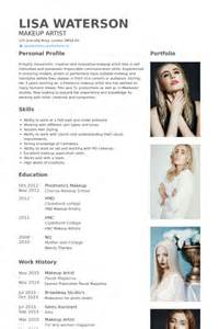 makeup artist resume sles visualcv resume sles