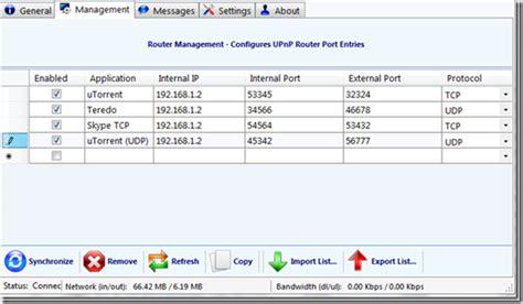windows port mapping windows 7 upnp router port management