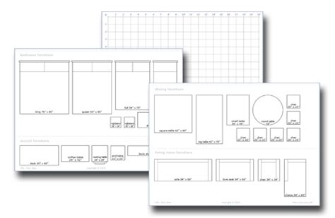 room planner download pdf diy free printable furniture templates for floor plans