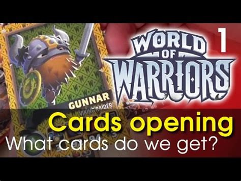 World Of Watches Gift Card - world of warriors cards opening see what cards we get youtube