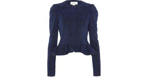Jaket Crop Navy Jaket Hoodie Wanita Sweater Hoodie Diskon lyst temperley cropped aspen jacket in blue