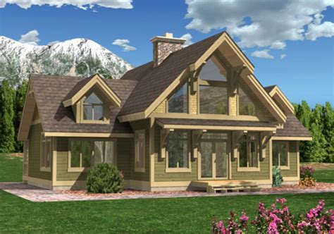 House Plans The Acadia Cedar Homes Country Timber Frame House Plans