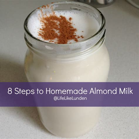 almond milk before bed how to make homemade almond milk life like lunden