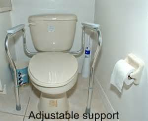 Power Chair Rental Disabled Doc M Low Level Toilet With White Cushion Rail