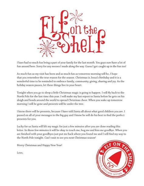 free printable goodbye elf 25 best ideas about elf goodbye letter on pinterest elf
