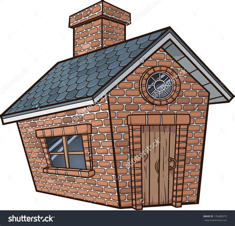 house of bricks little brick house vector clip art illustration with simple save to a lightbox loversiq
