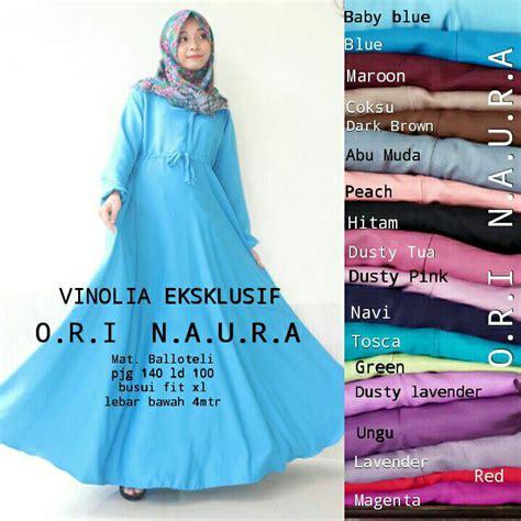 Syar I Ori Naura jual harga vinolia dress ori naura supplier baju syari