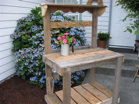 rustic potting bench dream garden woodworks rustic potting bench