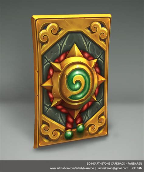 Hearthstone Card Back 3d Template by Artstation 3d Hearthstone Cardback Pandaren Yili