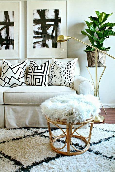 weisser teppich wohnzimmer teppich in schwarz und wei 223 wunderbare ideen archzine net