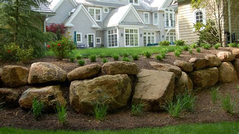 landscaping with boulders boulders and walls 171 gordon eadie landscape design line pa
