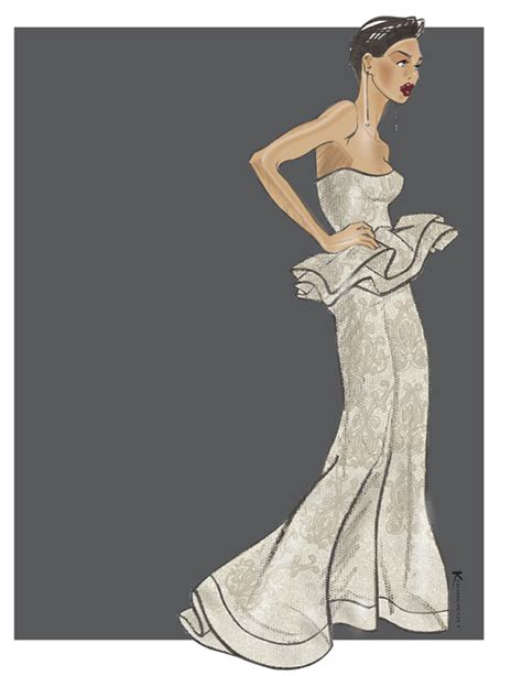 fashion illustration by honeycutt at coroflot
