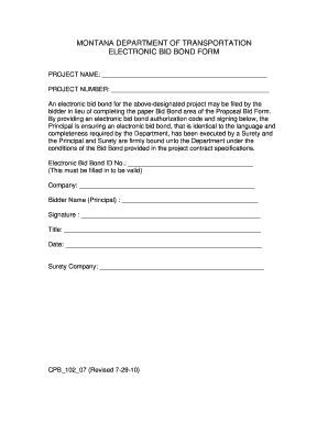 bid bond bid bond form fill printable fillable blank