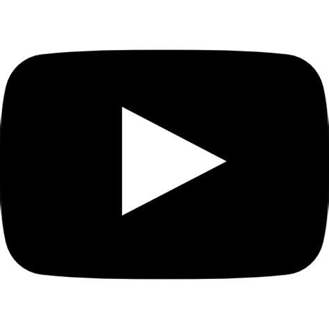 black youtube youtube symbol free social icons