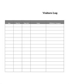 visitor log book template log book template 7 free word pdf documents