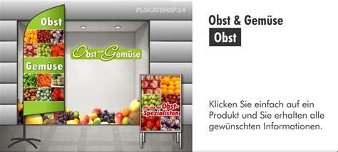 Obst Aufkleber Kaufen by Obst Obst Und Gem 252 Se G 252 Nstige Plakate Werbebanner