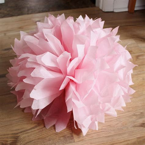 How To Make Small Paper Pom Poms - how to make tissue paper pom poms diy