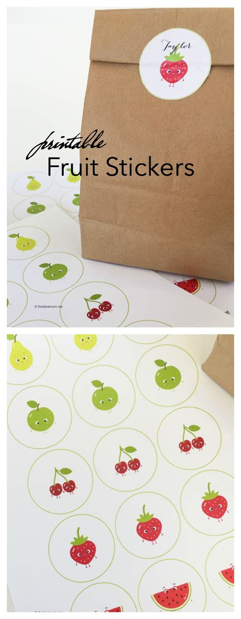printable vegetable stickers back to school printable fruit stickers