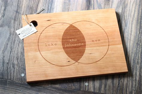 cutting board designs venn diagram custom engraved wood cutting board