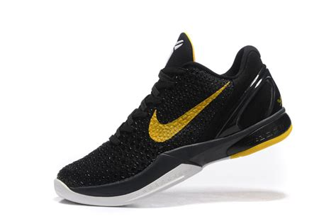 black and basketball shoes nike zoom 6 black yellow basketball shoes 2016 new