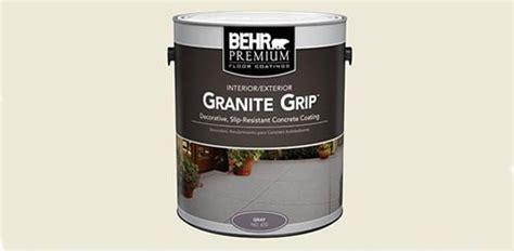 behr granite grip concrete floor todays homeowner