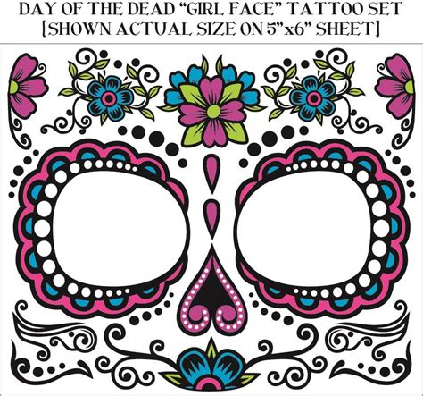 day of the dead temporary tattoos day of the dead temporary temporary dios de