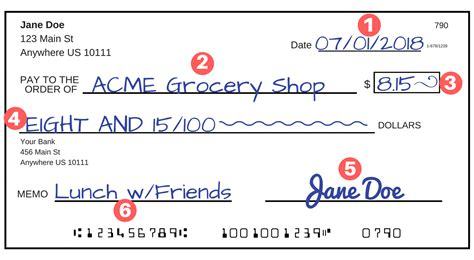 exle of written check how to write a check a step by step explanation
