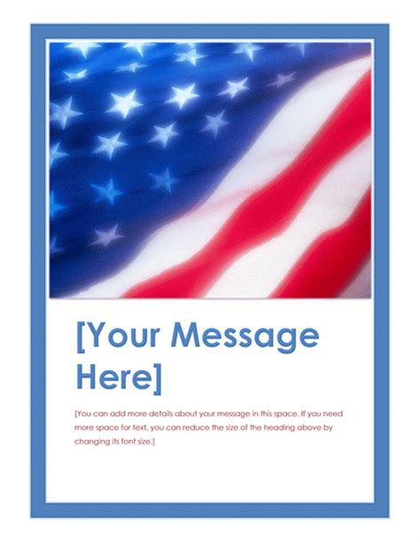 Download American Flag Flyer Free Flyer Templates For American Templates