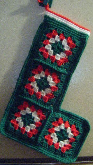 pattern for granny square christmas stocking 949 best christmas home crochet images on pinterest