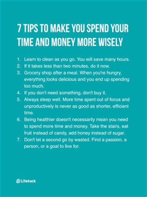 7 Tips On How To Make Your Time A Pleasant Memorable Experience by Tips To Make You Spend Your Time And Money More Wisely