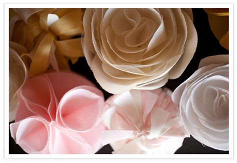 organza roses tutorial diy fabric flowers by michonne diy projects 100 layer cake
