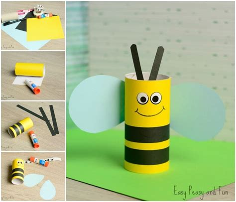 Craft With Toilet Paper Rolls - toilet paper roll bee craft for easy peasy and