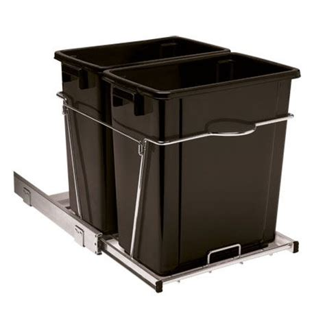 trash can roll out for cabinets 34 qt roll out trash can kitchen family room