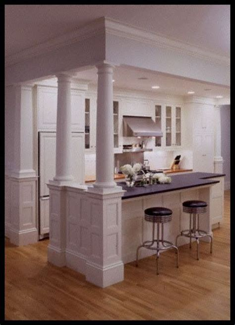 kitchen island with columns load bearing wall dream home 18 best images about for the home on pinterest columns
