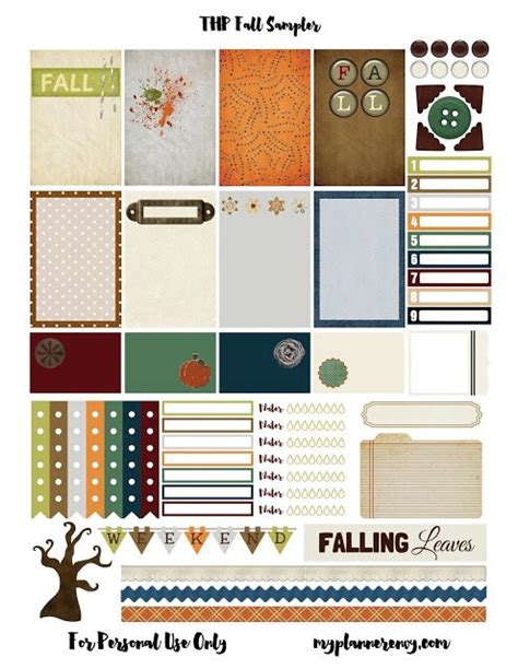 mambi planner free printable free printable fall sler for the mambi happy planner